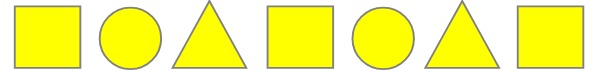 yellow shapes