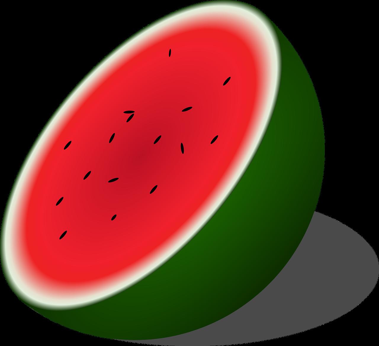Half of a watermelon