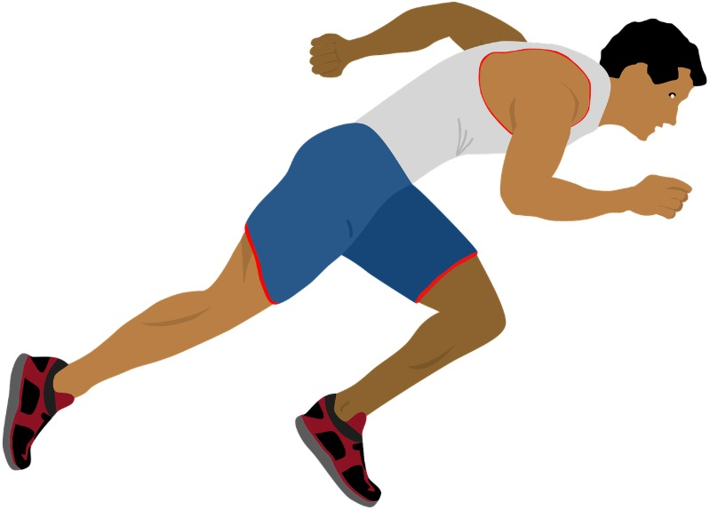A man is running at a race.