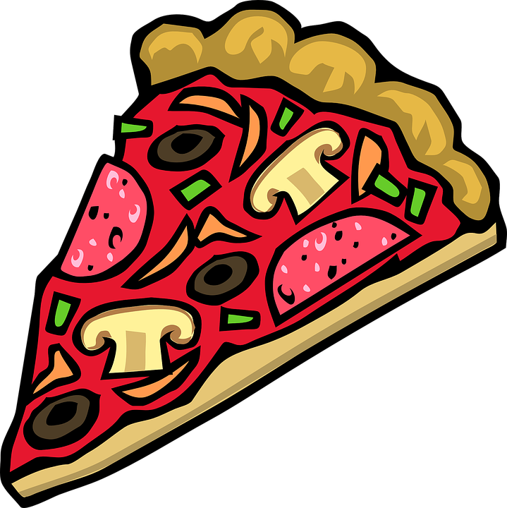 A slice of pizza.