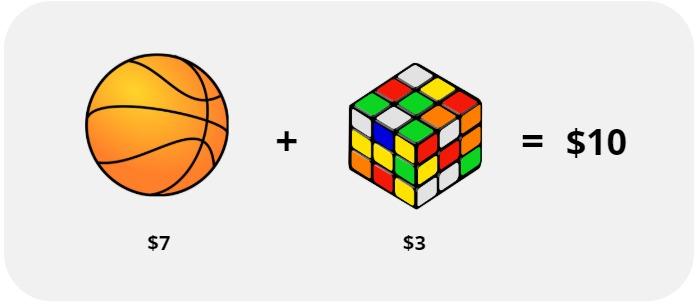 ball and Rubik's cube