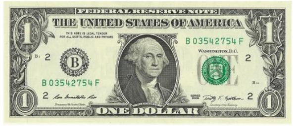 $1 dollar bill