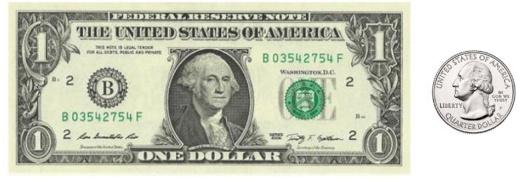 a dollar and a quarter