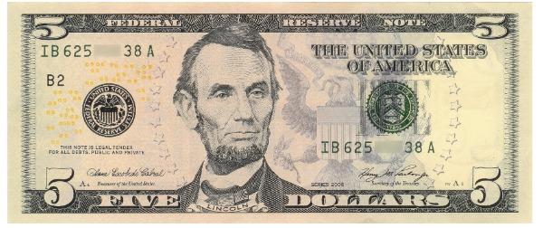 $5 dollar bill