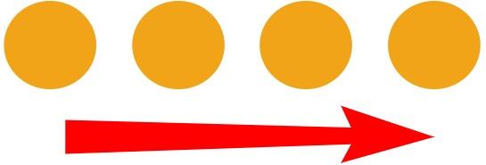 a row of circles