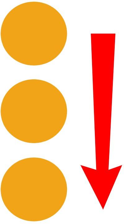 column of circles