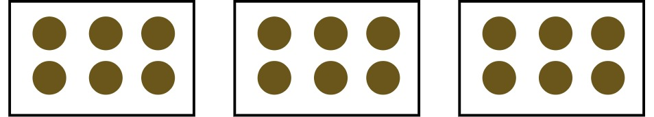 3 groups of circles