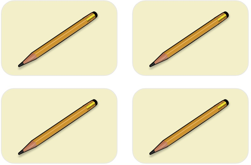 4 pencils