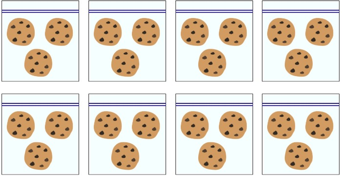 8 bags of cookies