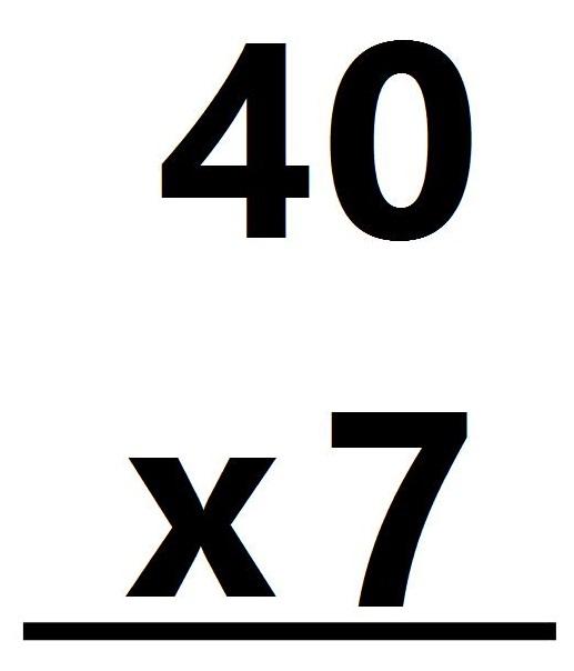 40 x 7