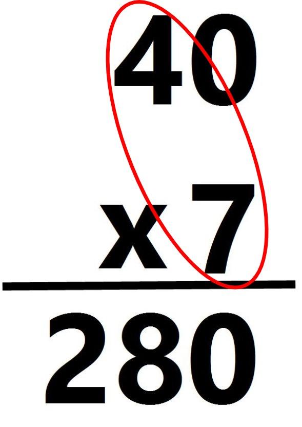 40 x 7 = 280