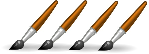 Four paintbrushes