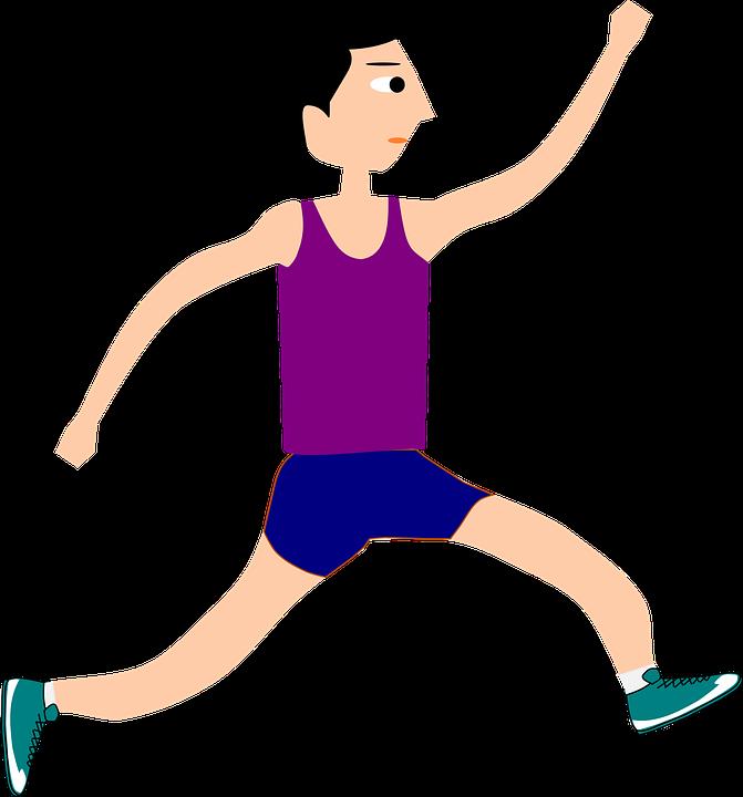 A boy is running.