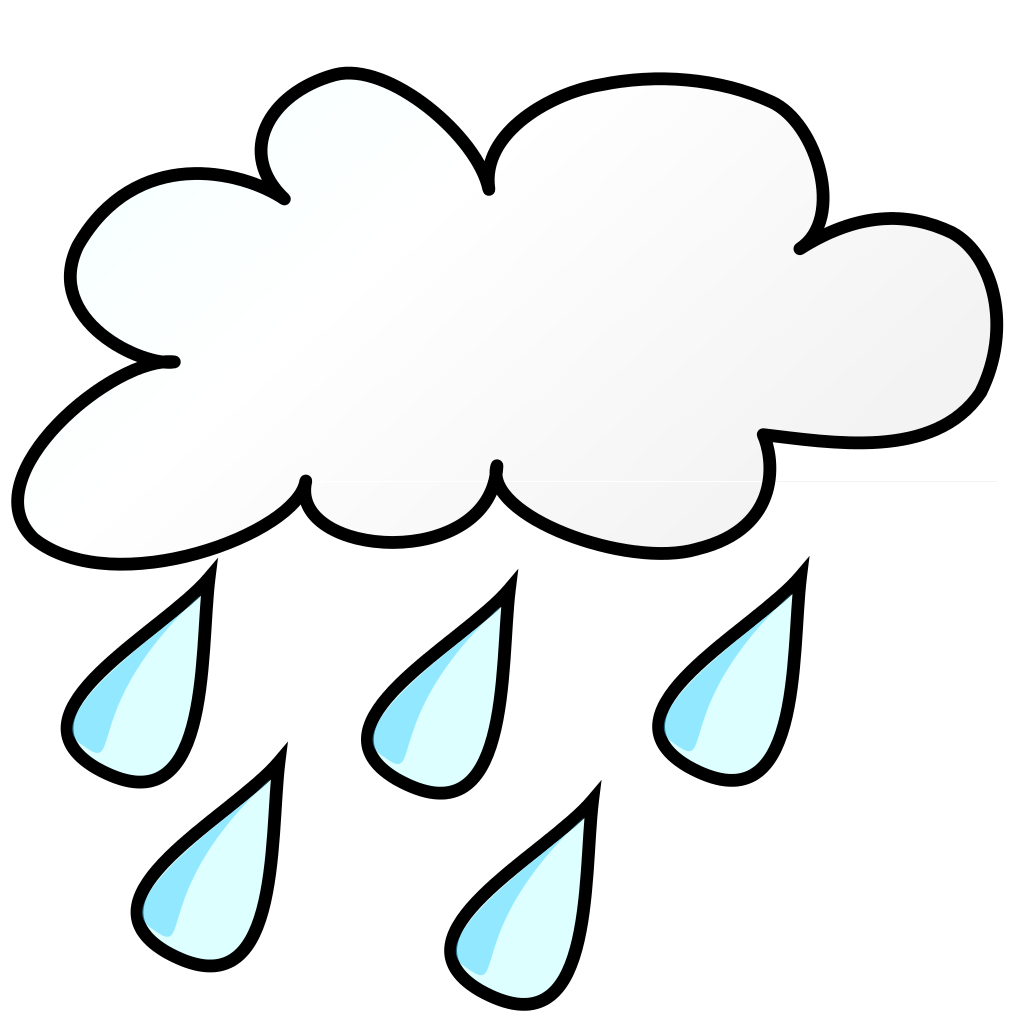 Cloud and rain drops