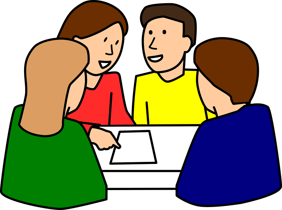 A group of students are studying together.