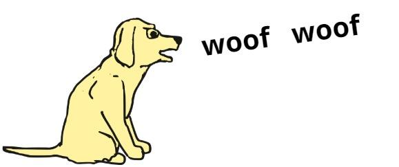 A dog barking.