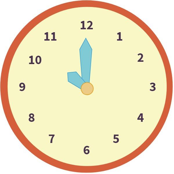 analog clock at 10:00