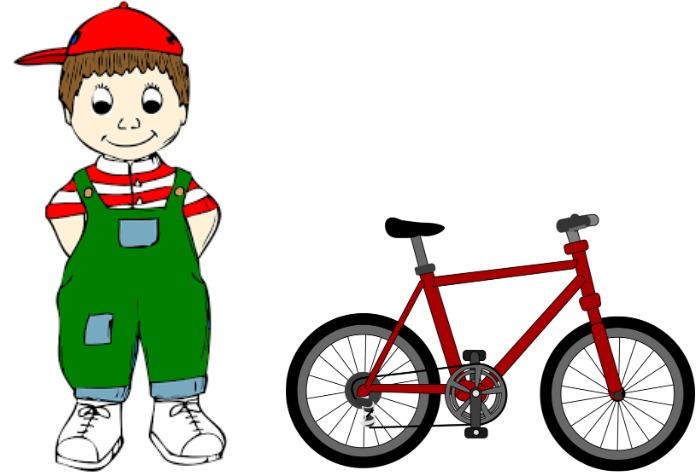 Ben standing next to his bike.