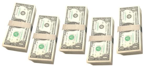 bundles of $1 bills