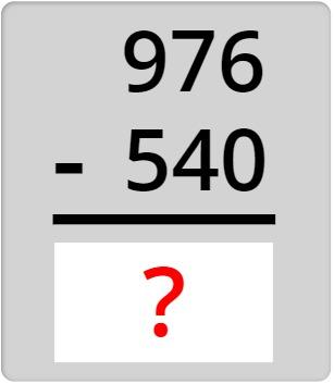 976 - 540