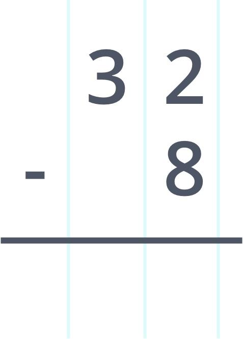 32 minus 8