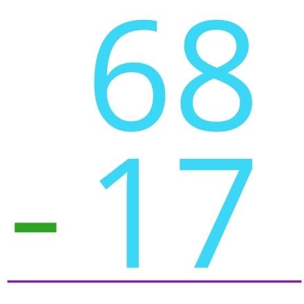 68 - 17