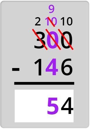 subtracting the tens