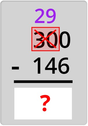 subtracting the numbers