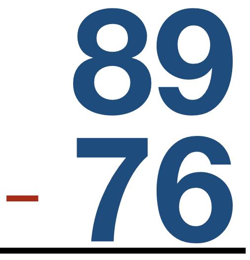 89 - 76