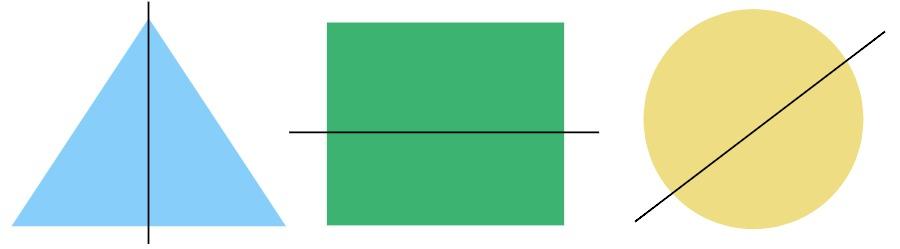 triangle, rectangle, circle