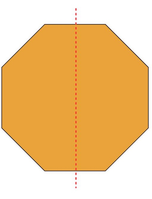 the octagon divided into 2 parts