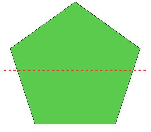 a different way to divide the pentagon