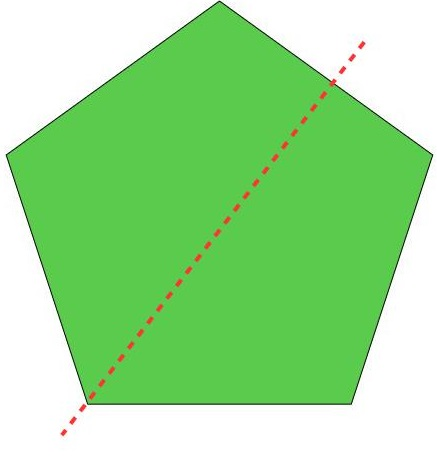 another way to divide the pentagon
