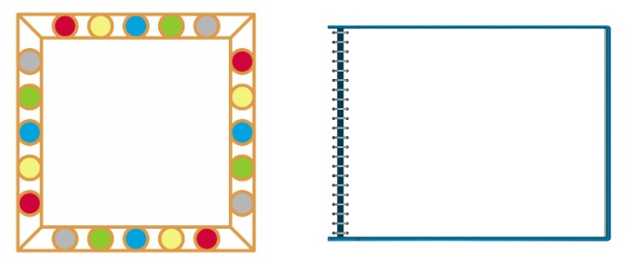 frame and notebook