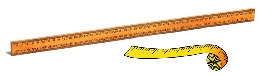 meter stick and measuring tape