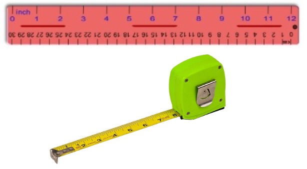ruler and measuring tapes