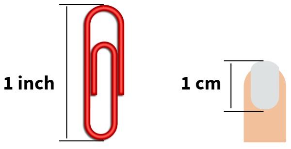 paper clip and fingernail