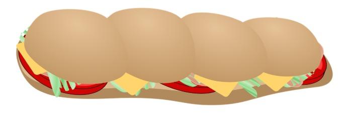foot-long sandwich