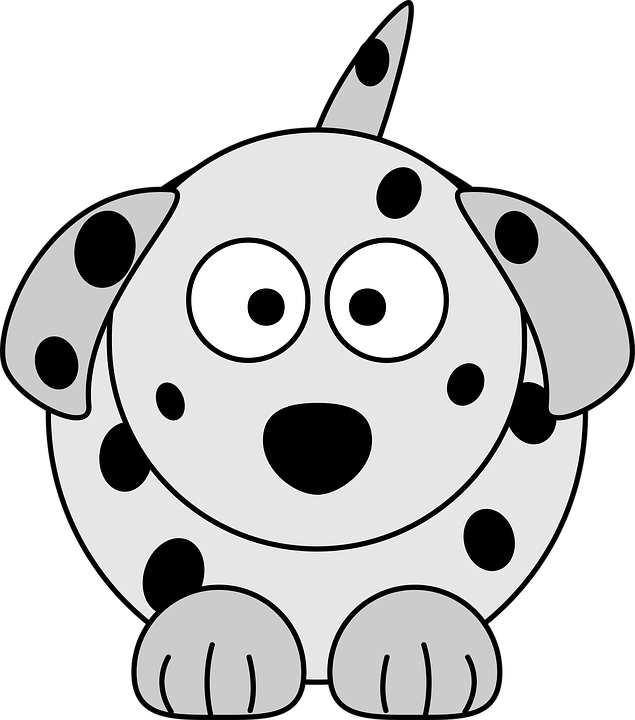 A dog with spots.