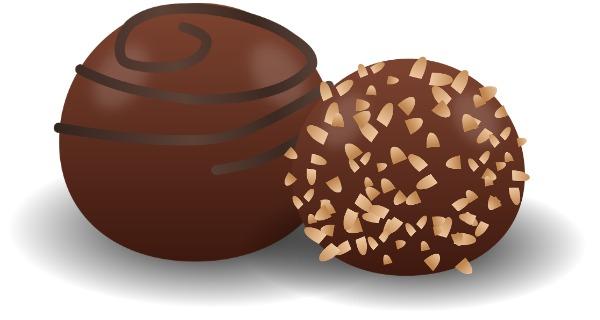 sphere-shaped chocolates