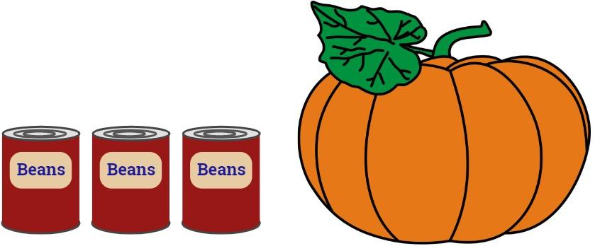 tin can and pumpkin