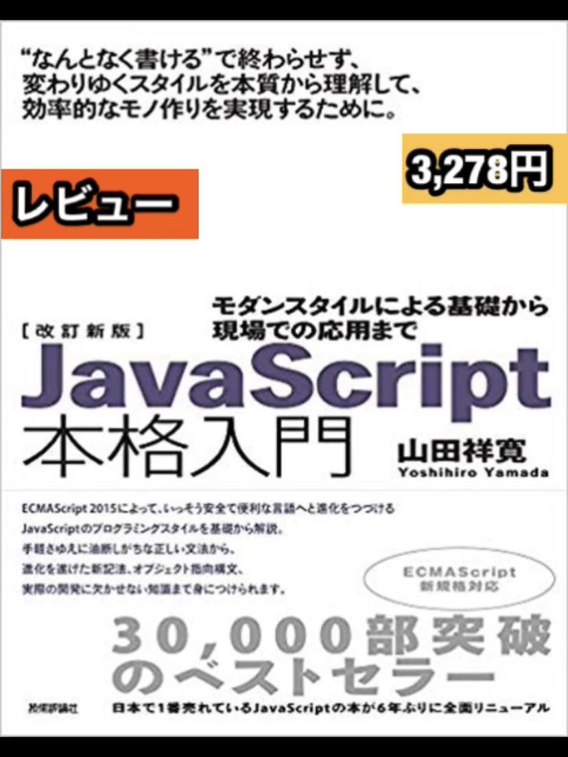 Thumbnail of 改訂新版JavaScript本格入門 レビュー
