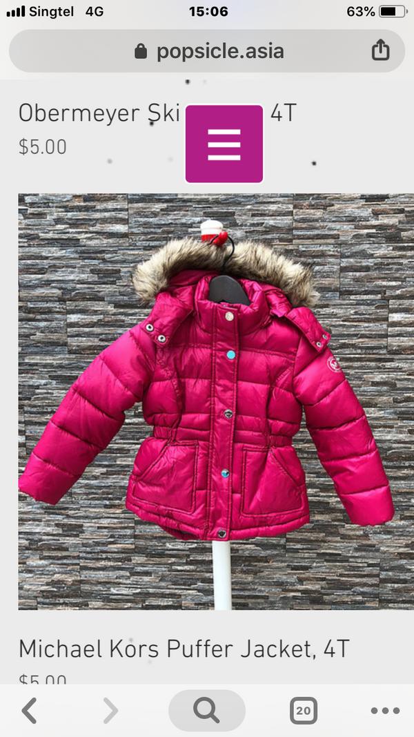 Michael Kors Winter Jacket, 4T