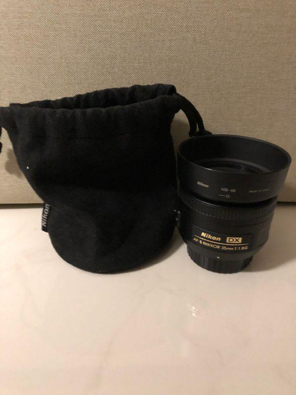 Nikor lens 35 mm 1.8
