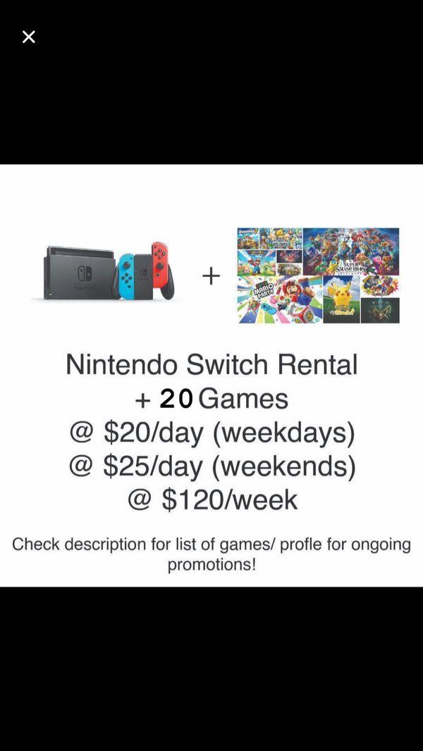 Rent Nintendo Switch