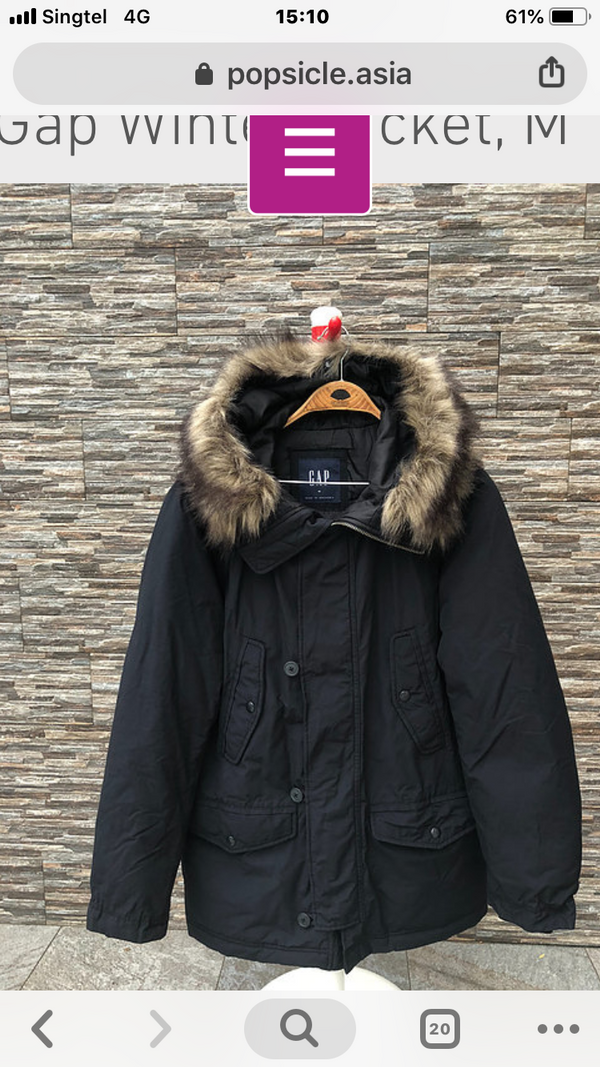 GAP Winter Jacket,  S, M, L, XL