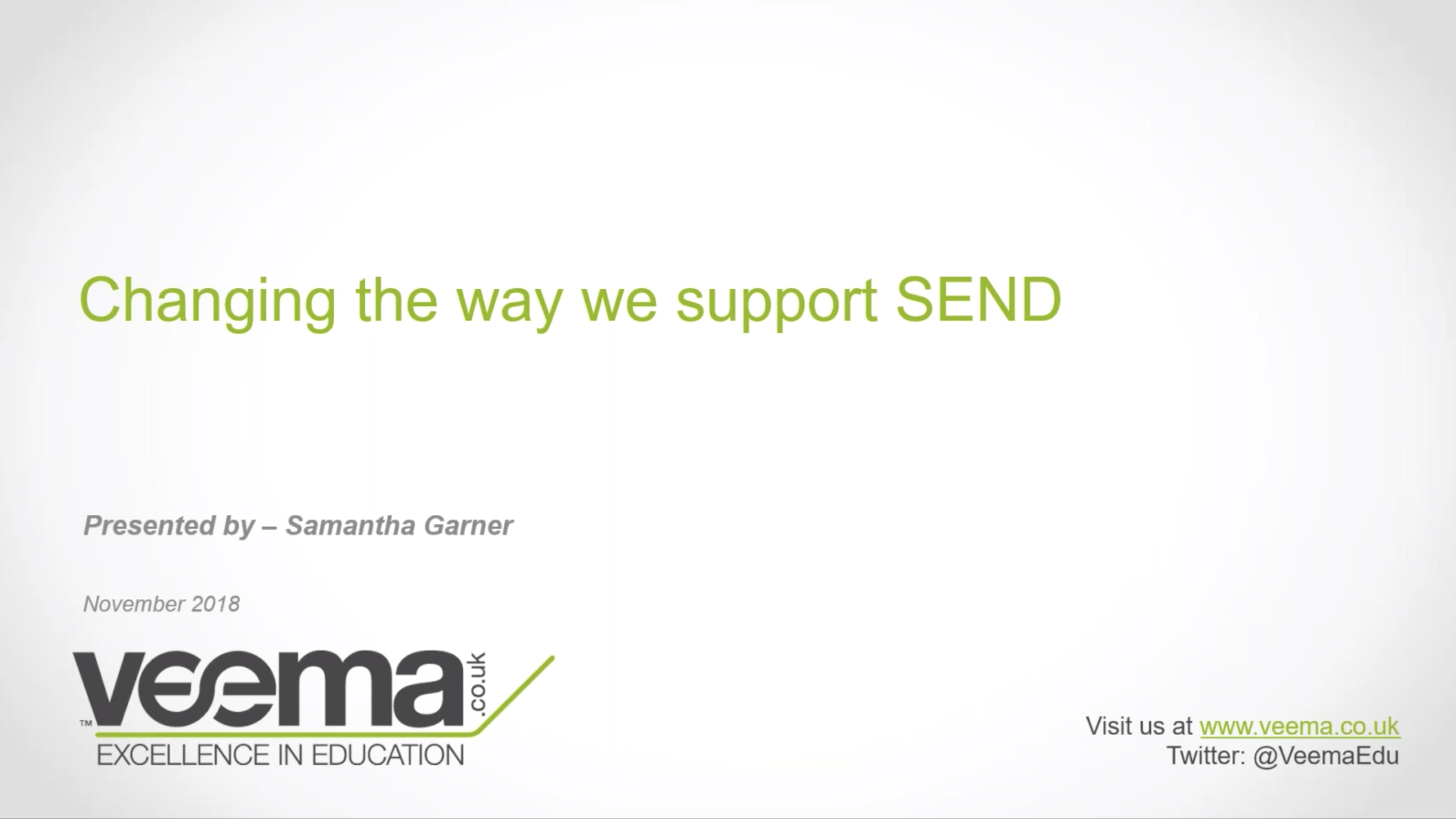 Changing the way we support SEND