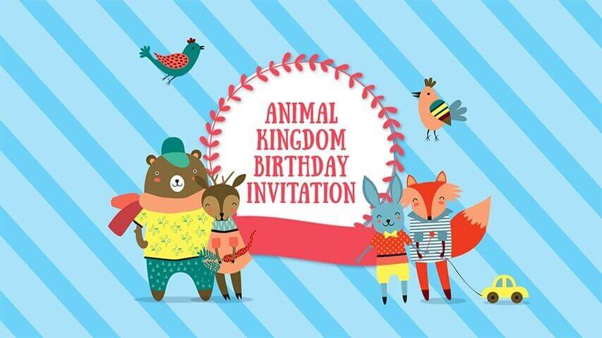Animal Kingdom Video Invitation