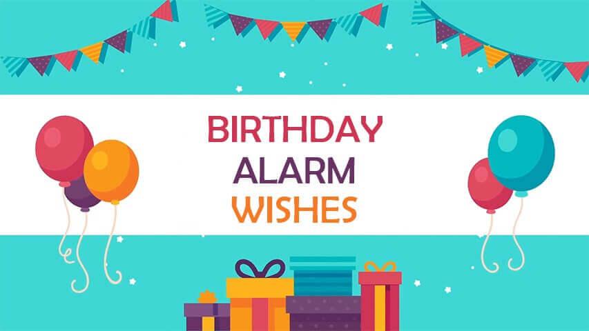 Birthday Alarm Video Invitation