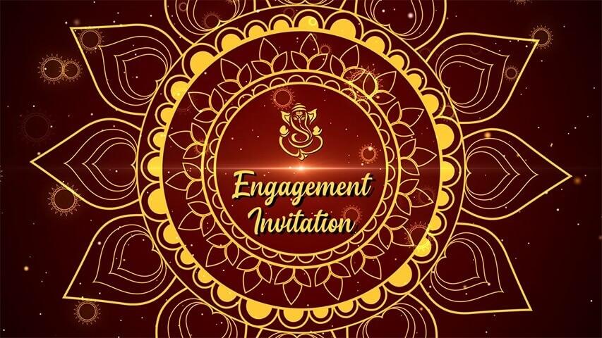 Chakra Gold Video Invitation